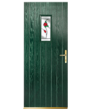 Sherbourne Sq Green Eng Rose Style Door