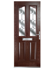 Rochester Rosewood Cry Dia Style Door